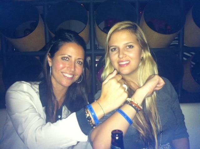 Skye and Serena Dyer (Wayne Dyer's daughters) wearing their Manifestation Man-festing bracelets.