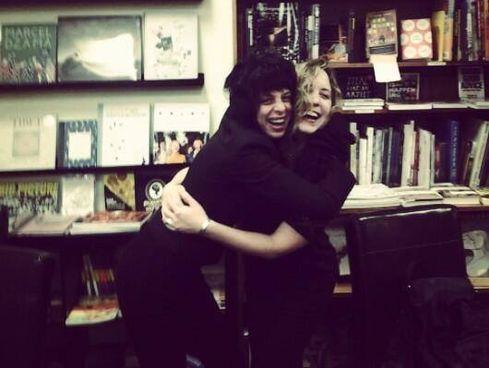 Chloe Caldwell and the late Maggie Estep, February 2014