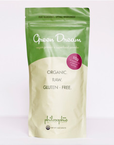 "A detoxifying, weight loss, energizing, strengthening superfood blend. The Green Dream was the first superfood blend I created. ""Green foods"" are one of the least common foods consumed, yet they are the most nutrient-dense and most important! I wanted to find a way to get these incredible foods into your body without compromising flavor or convenience.  Green Dream is high in plant-based protein, so it keeps you full for longer and helps burn fat. Unlike other protein blends on the market, there are no ""fillers"" to extend the blend:  Green Dream uses only superfoods as ingredients, thus providing abundant, concentrated nutrient power with each teaspoon you consume.  Green Dream cleanses as its pure ingredients break down toxins and ushers them from the body. And Green Dream is energizing: it provides a natural, caffeine-free power boost every day as it sets the stage for sustained energy while your body releases old materials and rebuilds with precious new fuel. This blend also supports the body in weight loss, if needed: when your every cell is nourished from the clean protein, good fats, and detoxifying green power it provides, the body gives itself permission to let go of unneeded material.  By feeding your cells only the best, Green Dream makes being healthy and fit easy... like a dream. - See more at: https://www.thephilosophie.com/collections/superfood-blends/products/green-dream-8oz#sthash.A34NSeVW.dpuf"